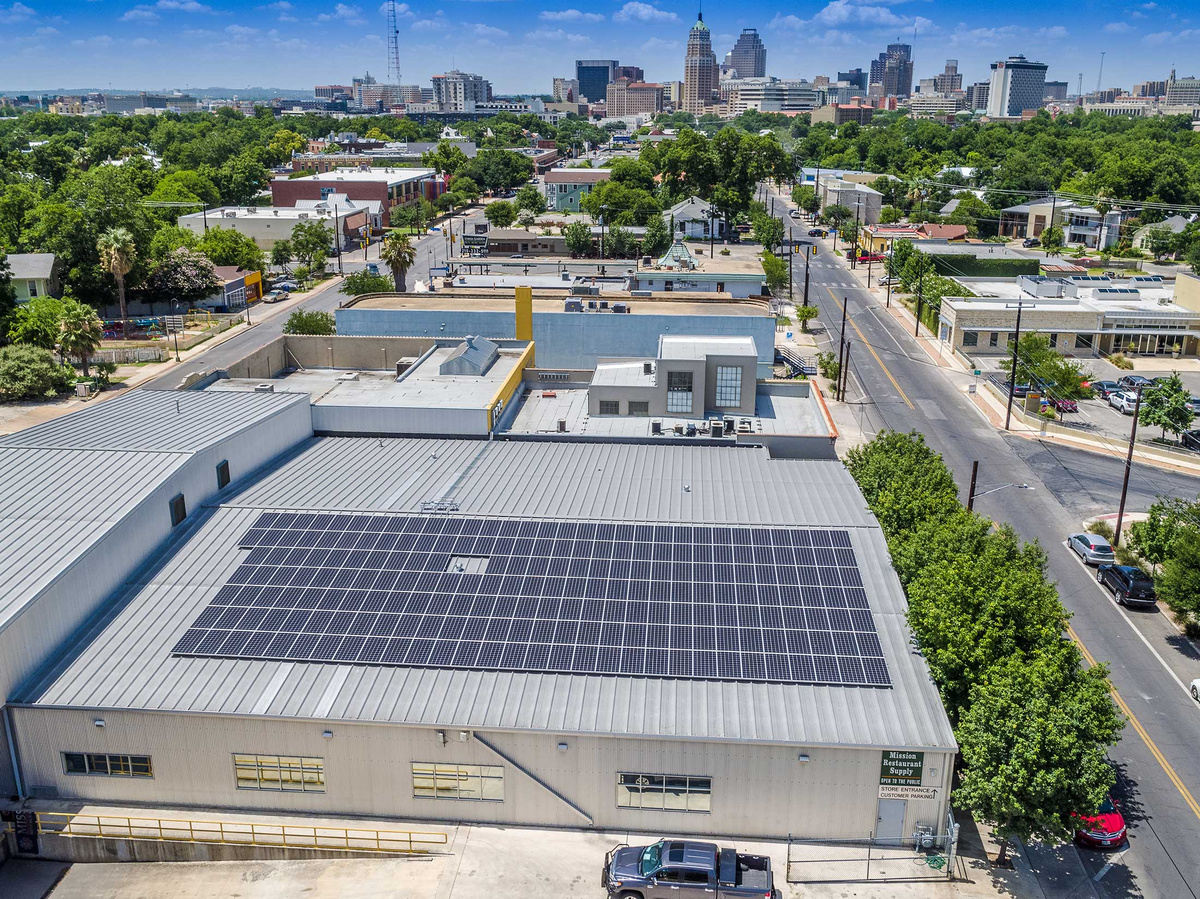 Mission Restaurant Supply - commercial solar panel system